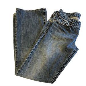 Silver Medium Wash Pioneer Boot Cut Jeans